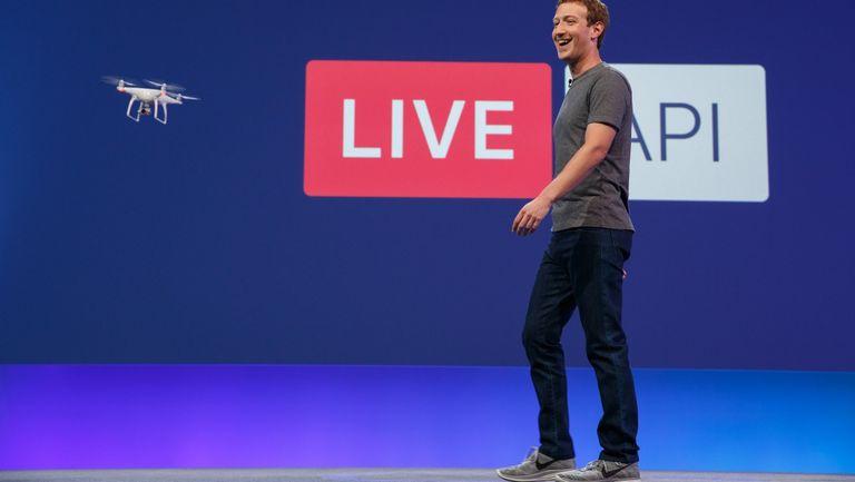 Mark Zuckberg transmitió video en directo a Facebook usando un drone