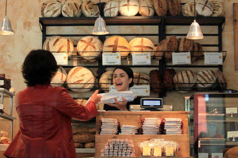 La flamante panadería Le Pain Quotidien, que abrió esta semana en el barrio de Palermo