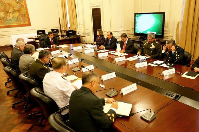 Humala también analizó los posibles escenarios del fallo con sus asesores