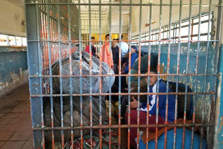 Internos en la cárcel de Batán