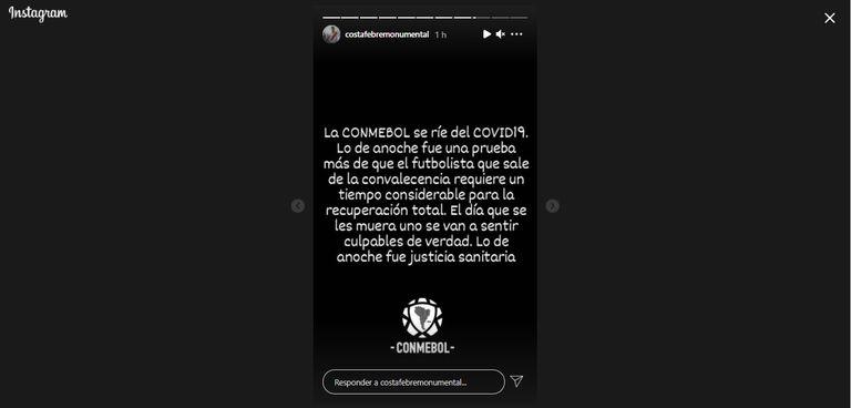 La feroz crítica de Atilio Costa Febre a la Conmebol