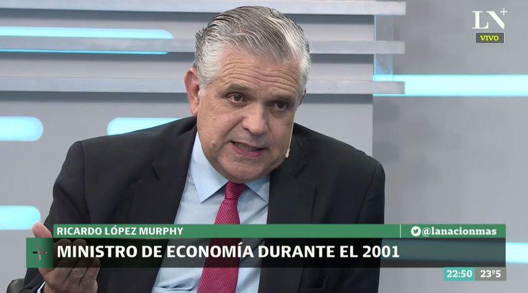 El candidato Ricardo López Murphy negó la cifra de 30.000 desaparecidos