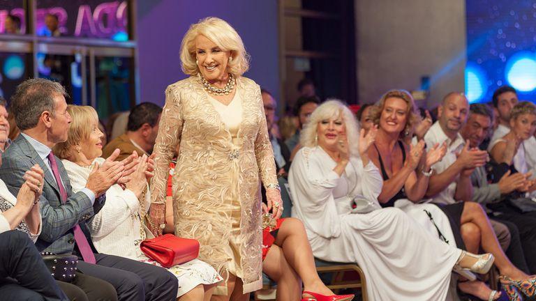 Mirtha Legrand, anoche, en el Mar del Plata Moda Show recibió muchos aplausos