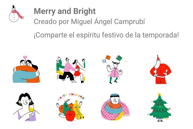 Para celebrar estas fiestas la aplicación de mensajería instantánea sumó un nuevo paquete de stickers para utilizar en los saludos navideños en los chats y grupos de WhatsApp