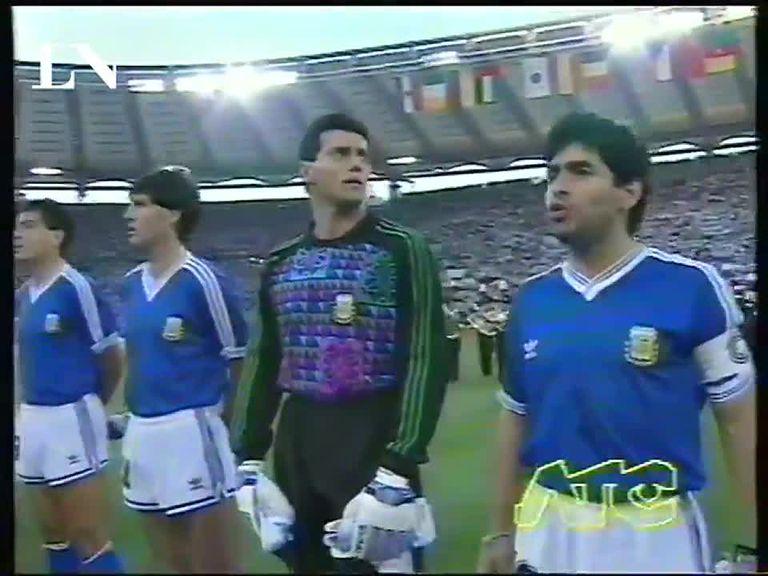 4 momentos de la final de Italia 90 relacionados con Maradona y Bilardo