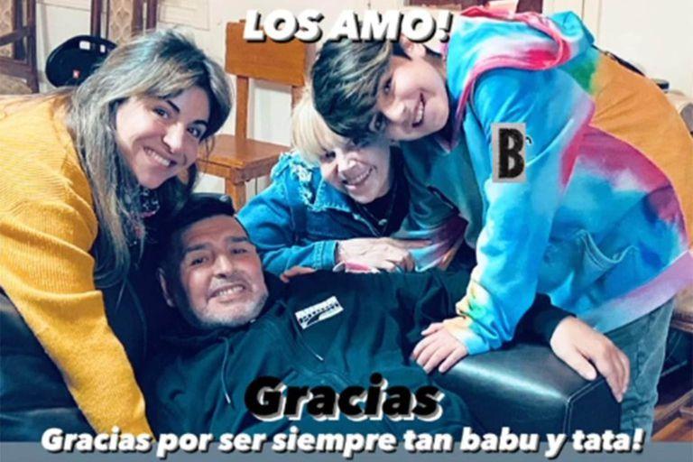 Gianinna compartió la última foto que se tomó con Diego, Claudia y Benjamín