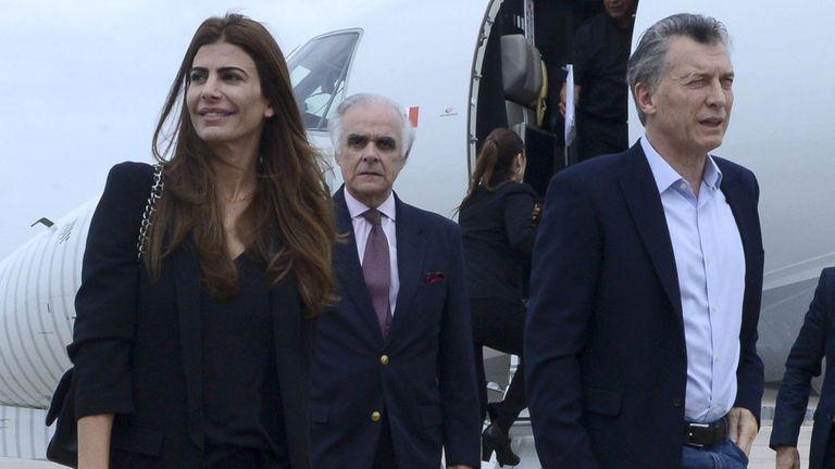 Macri, con Juliana Awada, en su última visita a Nueva York