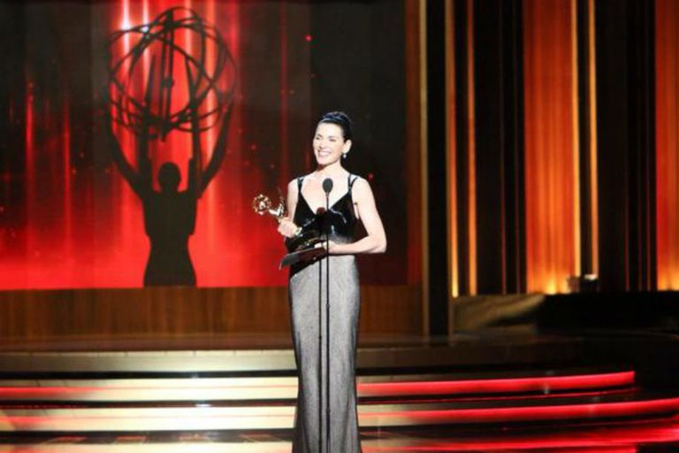Julianna Margulies, feliz con su Emmy