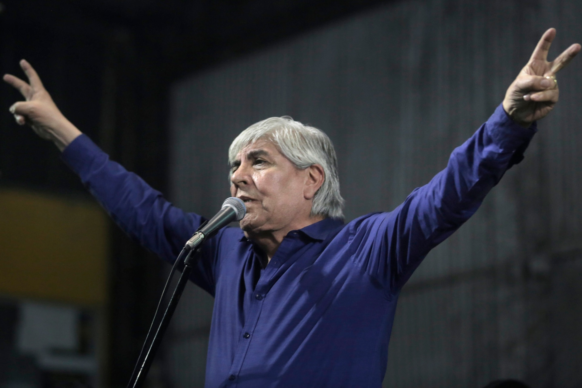 Hugo Moyano en el Primer Congreso Nacional del Frente Multisectorial