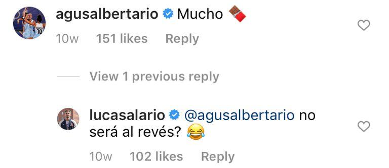El divertido ida y vuelta entre Albertario y Alario en el Instagram del futbolista