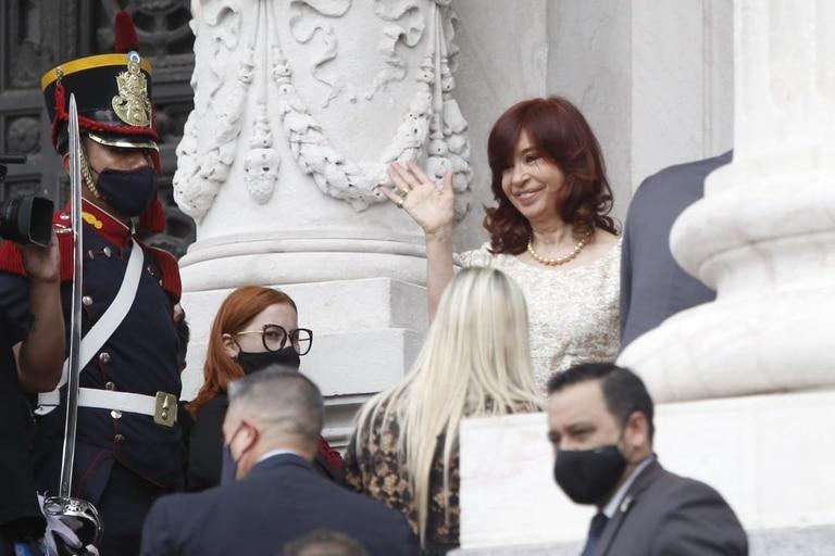 La Vicepresidenta Cristina Fernández de Kirchner ingresa al Congreso Nacional por la apertura de la Asamblea Legislativa
