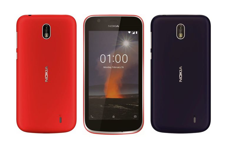 Un Nokia 1, el primero de la compañía con Android Go