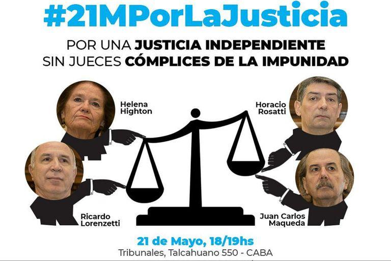 Apuntan también contra los jueces de la Corte Suprema que solicitaron el expediente del juicio contra Cristina Kirchner