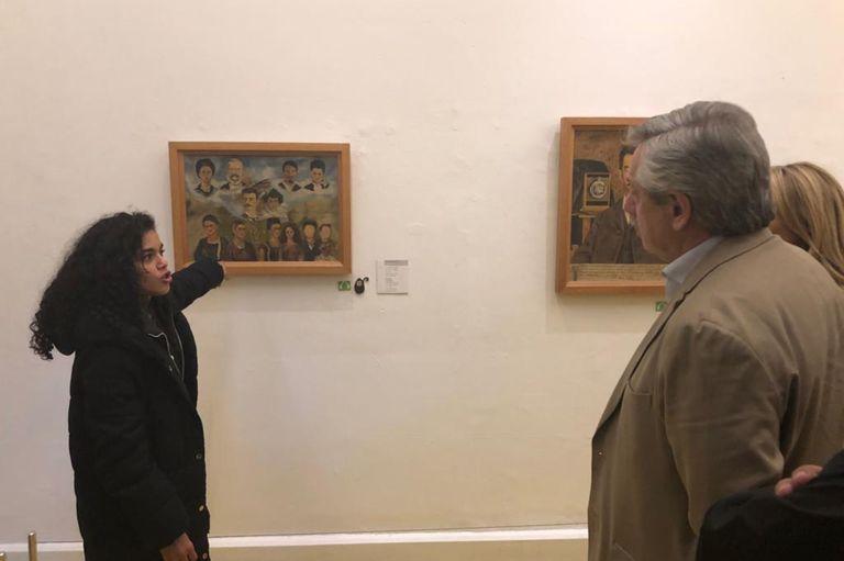 El presidente electo se encuentra en México y visitó hoy la casa de Frida Kahlo