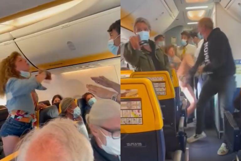 Una mujer italiana se puso furiosa y atacó a otros pasajeros cuando le pidieron que usara el barbijo