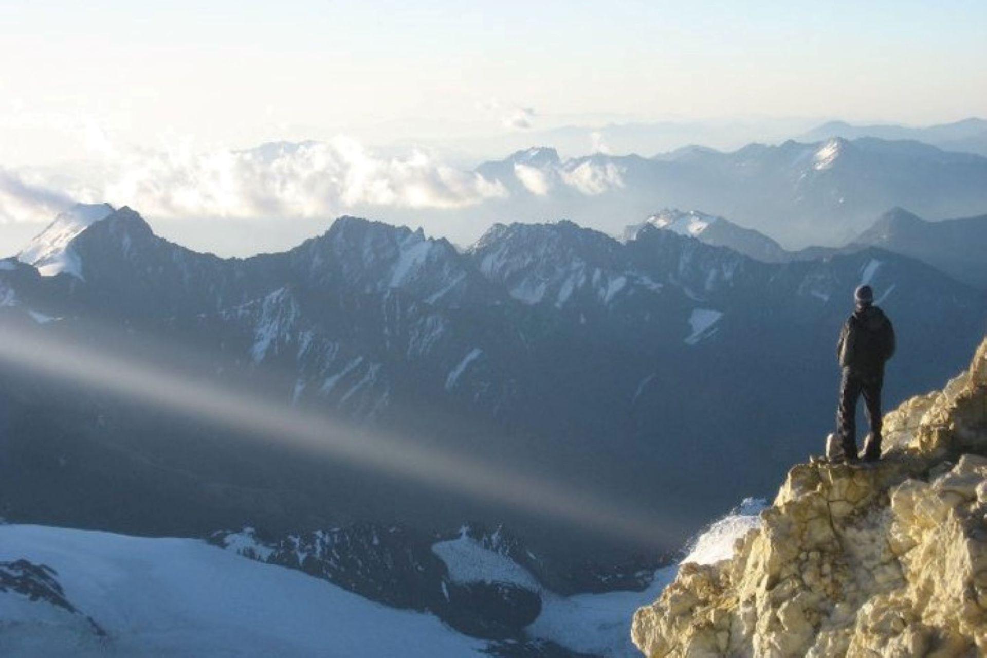 Increíble viste a 6000 metros de altura en el Aconcagua
