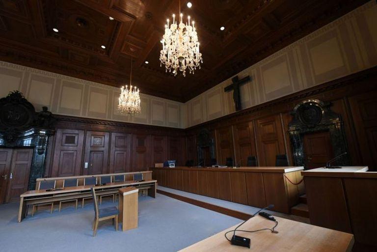 El tribunal en Núremberg como se ve en la actualidad: forma parte de un museo que conmemora el proceso