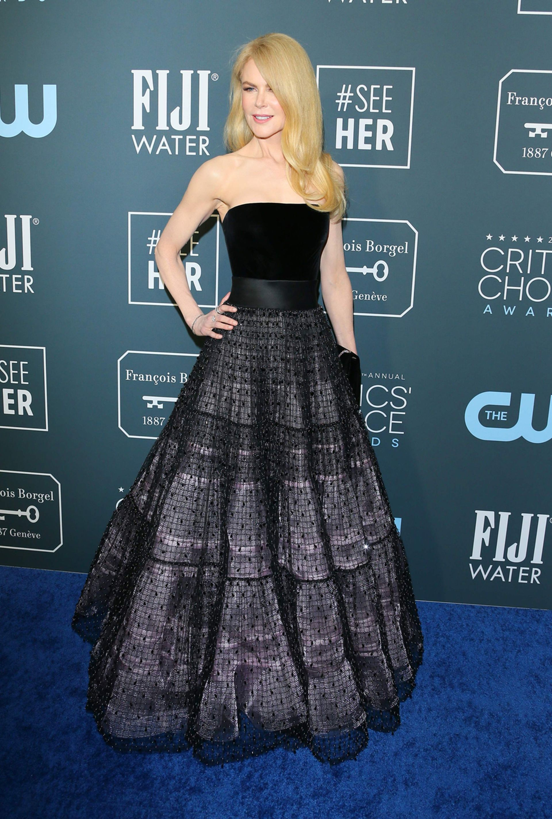 Nicole Kidman, impecable en un vestido negro de Armani Privé