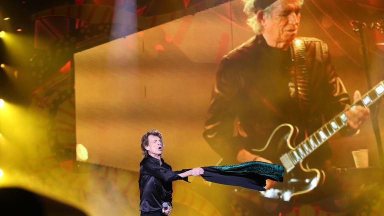 Jagger cambió varias veces de ropa