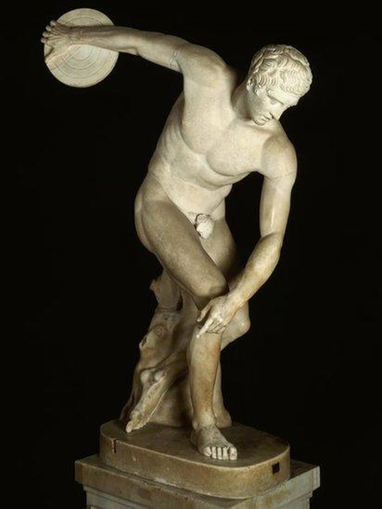 Los deportistas de la Antigua Grecia competían desnudos para mostrar el poder físico y la destreza del cuerpo humano