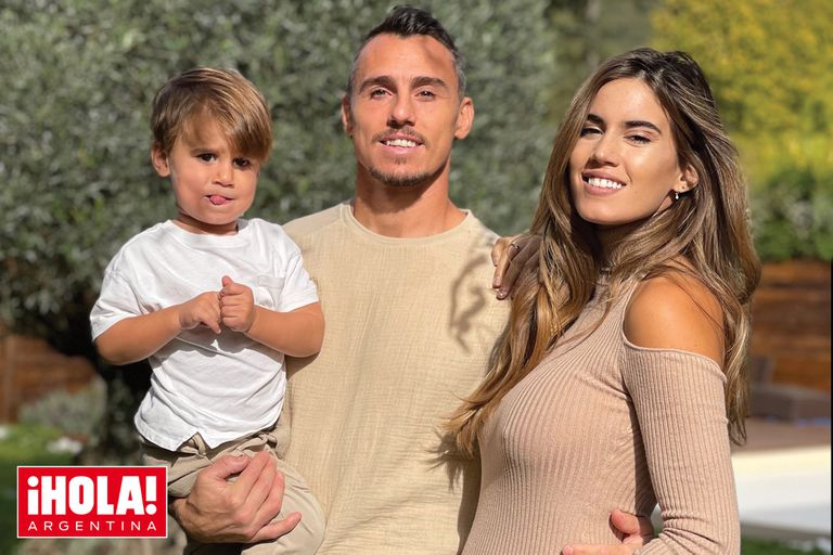 """Se viene un """"pumita"""". El rugbier Juan Imhoff y Natacha Eguía esperan su segundo hijo para abril de 2022"""