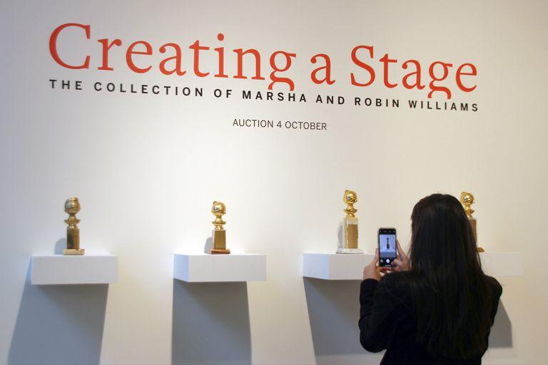 Premios y acuarelas de Banksy: remataron la colección de arte de Robin Williams