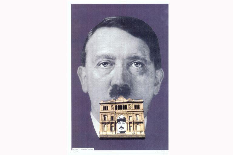 Collage de la serie Nunca Más, 1995, Colección Familia Ferrari