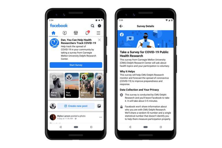 Facebook presentó un espacio en la red social que permite conectar a las personas con voluntarios y organizaciones que ofrecen su ayuda por la pandemia de coronavirus
