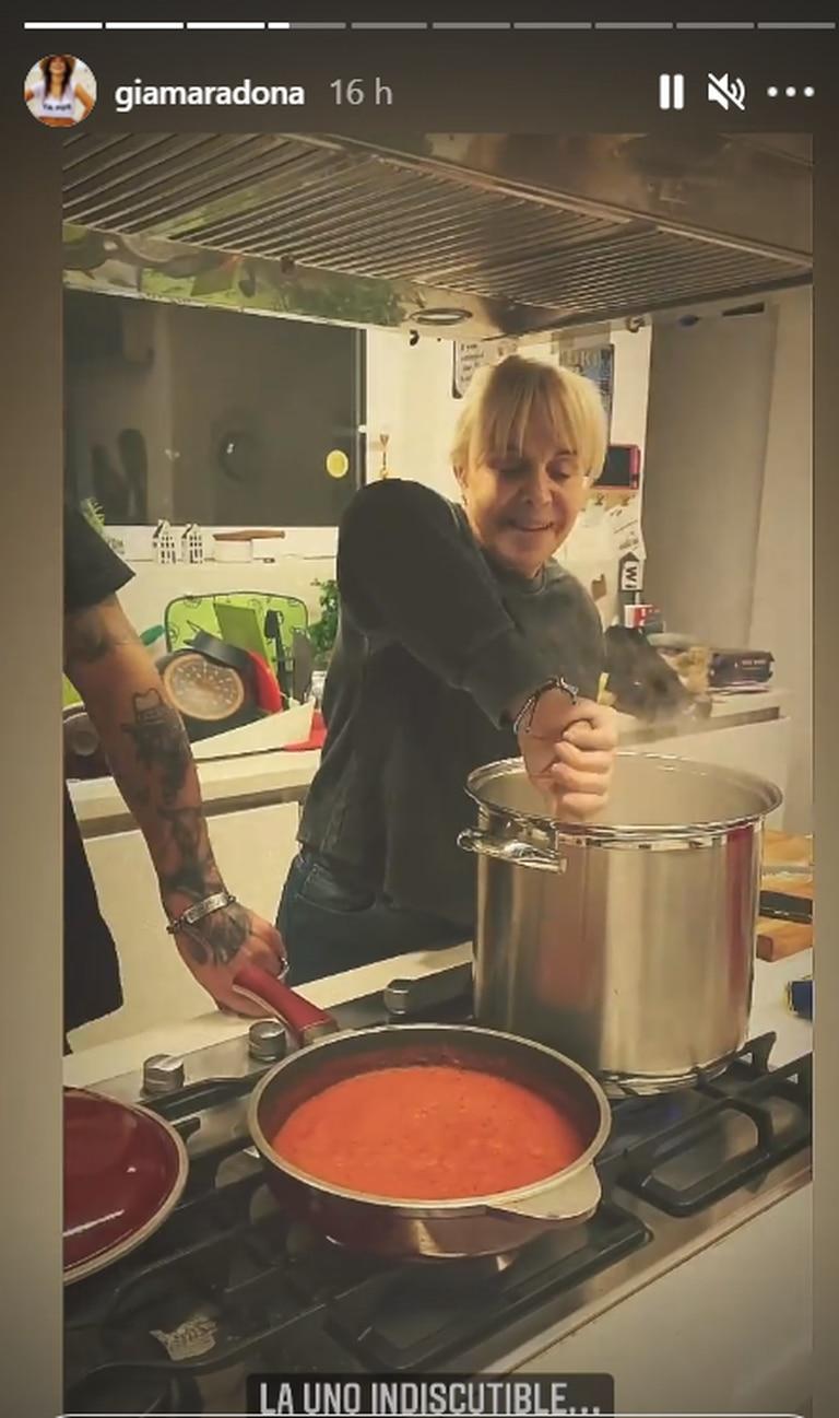 Claudia Villafañe, apasionada de la cocina