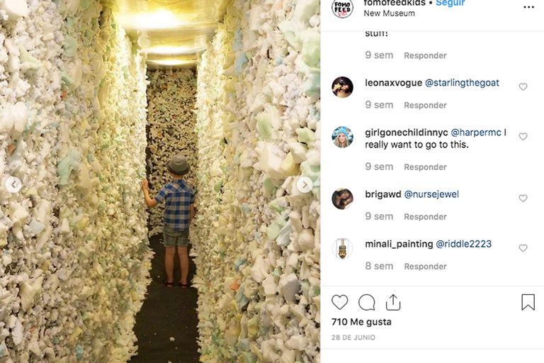 Marta Minujín vigila su propia muestra en Nueva York desde Instagram