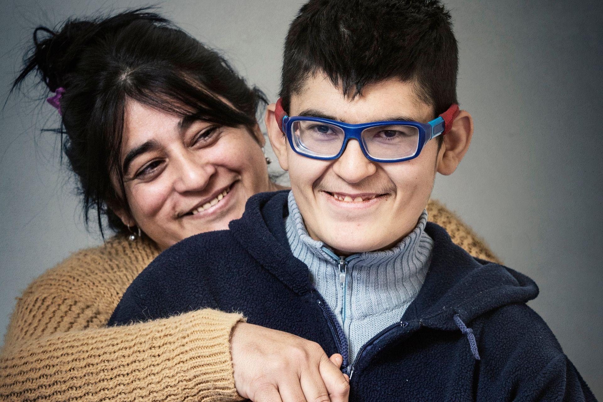 Nicolás Morel y su mamá, Patricia