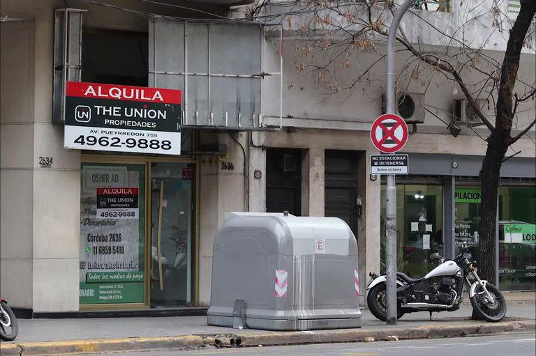 La mayoría de los locales ocupados son los de la Avenida Avellaneda