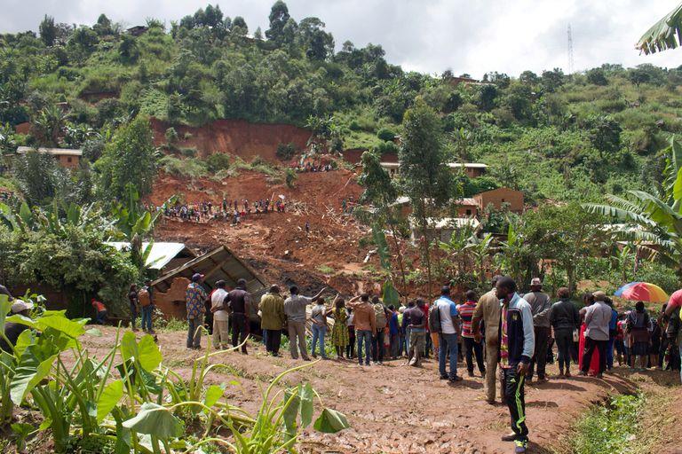 Un desplazamiento de tierra en Bafoussam, Camerún