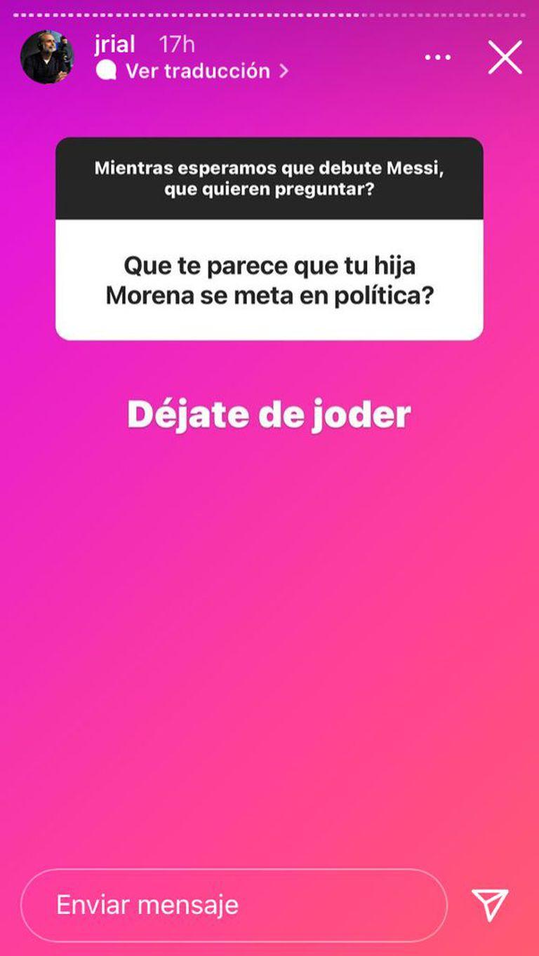 El exabrupto de Jorge Rial ante una pregunta de sus seguidores