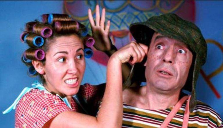 Florinda Meza junto a Chespirito, cuando formaban parte del elenco de El Chavo del 8
