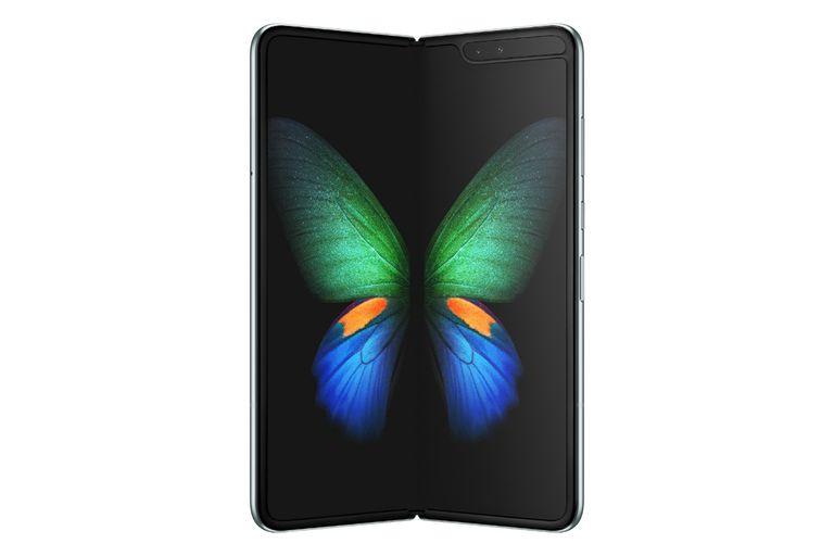 Cuando está abierto, no se aprecia la bisagra que une las dos pantallas de un Galaxy Fold