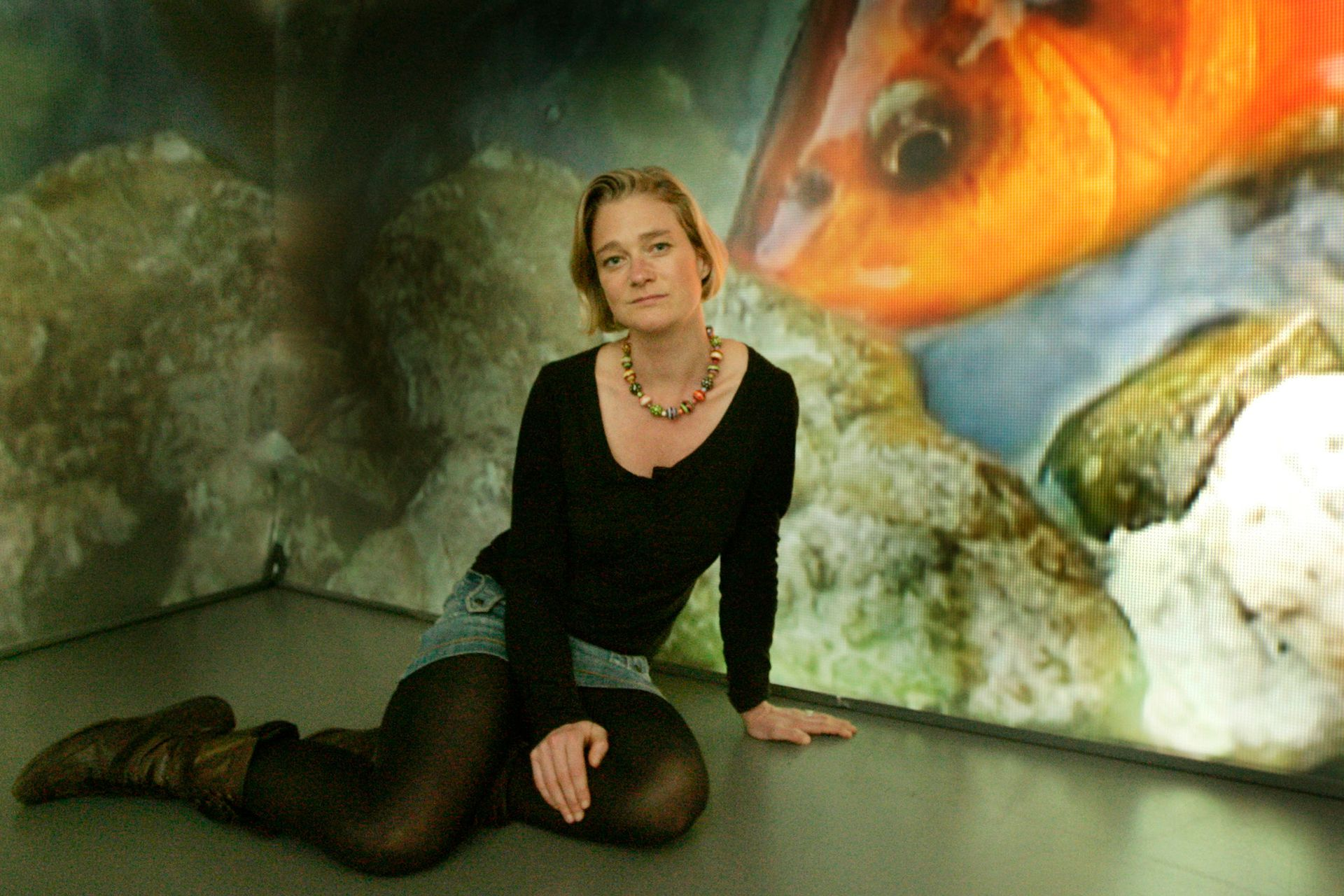 """BRUSSELS, BELGIUM - MAY 9: Delphine Boel, the alleged unrecognised daughter of King Albert of Belgium, attends an exhibition of her work called """"Concept"""" at the Pierre Berge Gallery on May 09, 2007 in Brussels, Belgium. (Photo by Mark Renders/Getty Images)"""