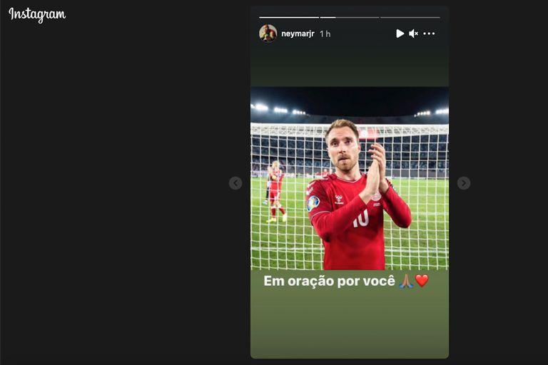 Publicación en el Instagram de Neymar