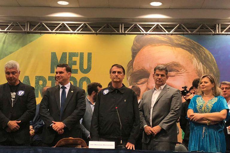 Bolsonaro, durante la conferencia de prensa