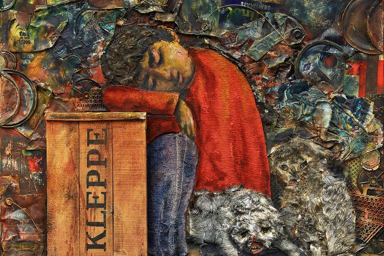 """""""Juanito dormido"""", de Berni, se convirtió con su venta en US$441 mil en la obra más cara de la saga de este personaje del pintor argentino"""