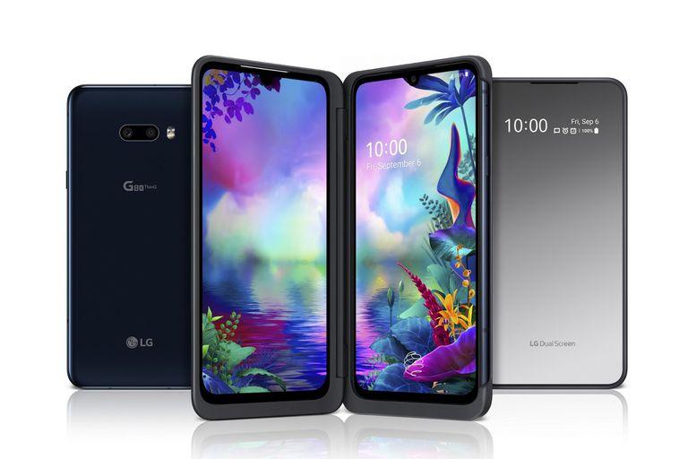 El G8X ThinQ de LG tiene dos pantallas principales y una pequeña en la parte posterior para las notificaciones