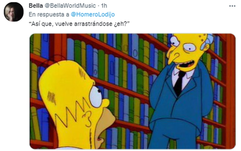 El Sr. Burns, otro de los más convocados cuando se trató de memes