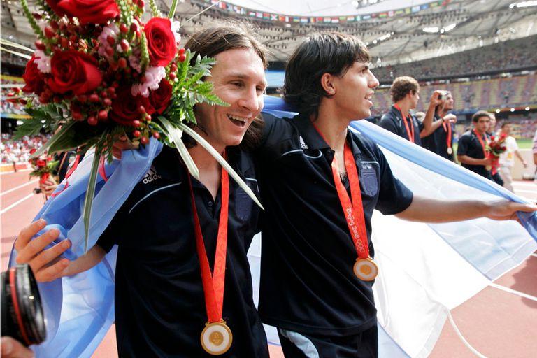 En Pekín 2008, campeón olimpico con el Kun Agüero
