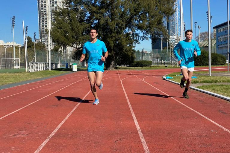 Un carril libre en el uso de la pista de atletismo del Cenard, otra de las medidas anticoronavirus que sigue el seleccionado argentino.
