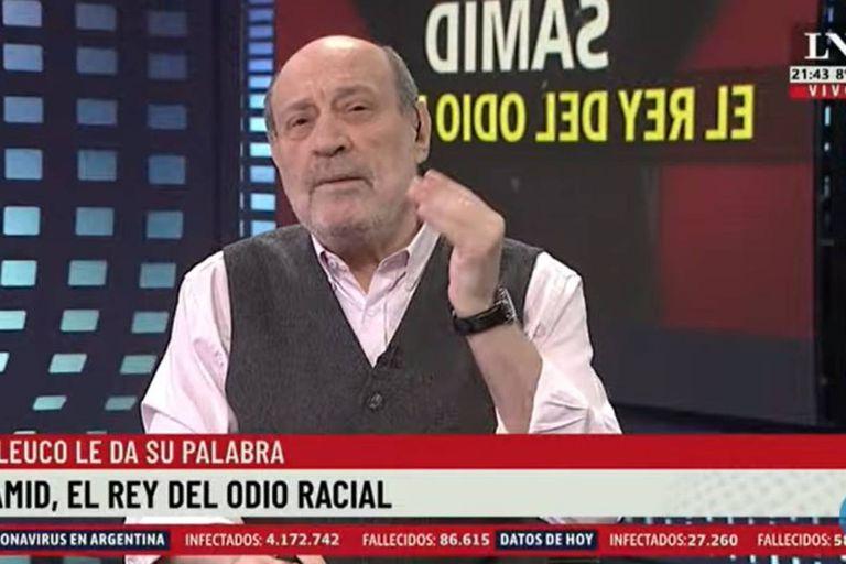 Alfredo Leuco se refirió a las expresiones antisemitas de Alberto Samid y se preguntó por qué ni el presidente ni el Inadi se habían manifestado contra las mismas