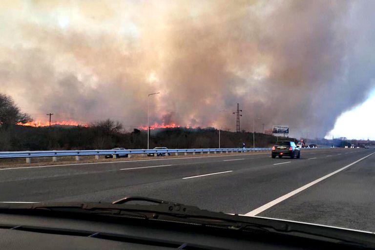 Incendios en Tanti, Córdoba