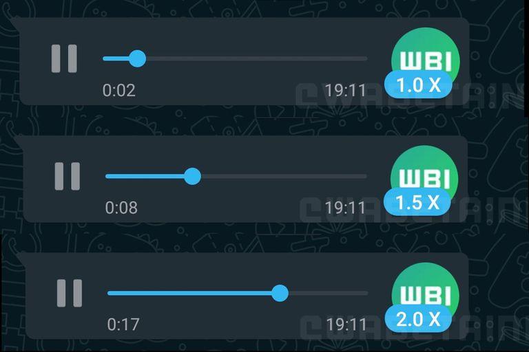 Más rápido: WhatsApp prueba la reproducción acelerada de mensajes de voz