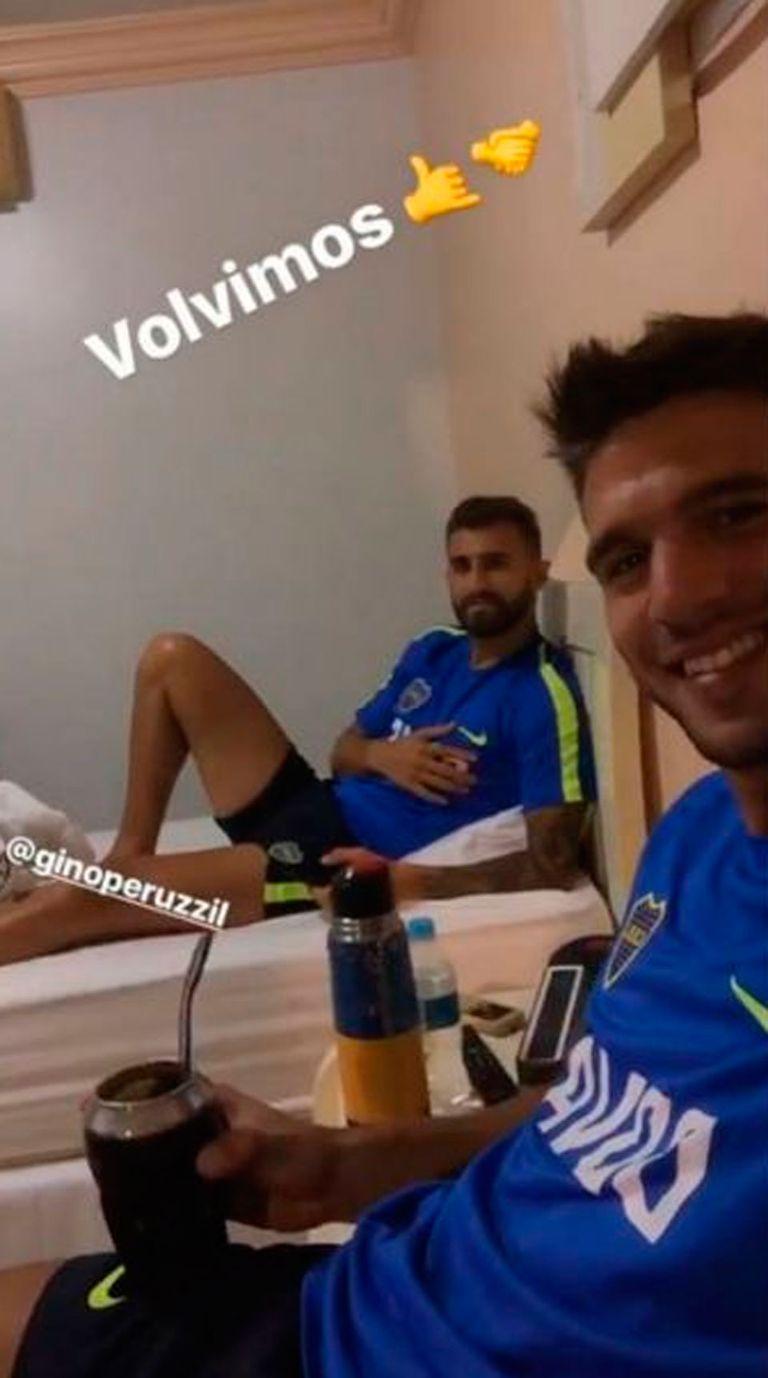 Magallán y Gino Peruzzi, su compañero de habitación en las concentraciones de Boca
