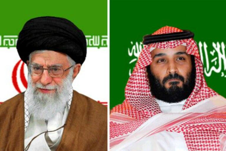 El ayatolá Ali Jamenei, líder de Irán, y el príncipe Mohammed bin Salman, príncipe heredero de Arabia Saudí