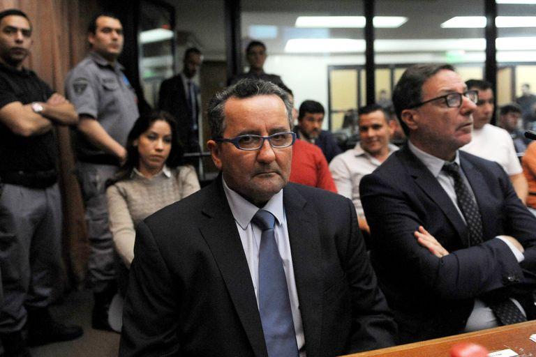"""Natividad """"Roger"""" Terán, en la sala de audiencias, durante el inicio del debate y antes de ser excarcelado después de haber acordado una pena de tres años de prisión en un juicio abreviado"""